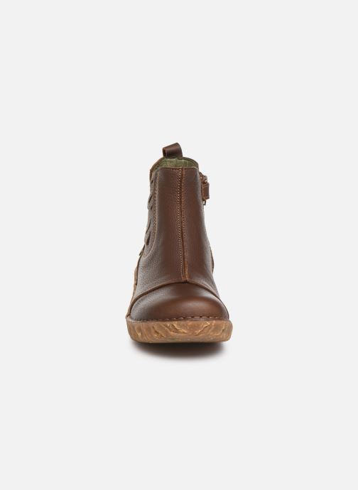 Ankle boots El Naturalista Yggdrasil 5E-124 Brown model view