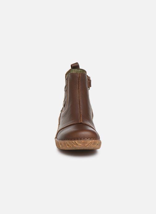 Bottines et boots El Naturalista Yggdrasil 5E-124 Marron vue portées chaussures