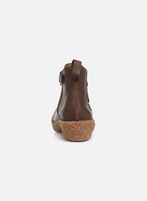 Ankle boots El Naturalista Yggdrasil 5E-124 Brown view from the right