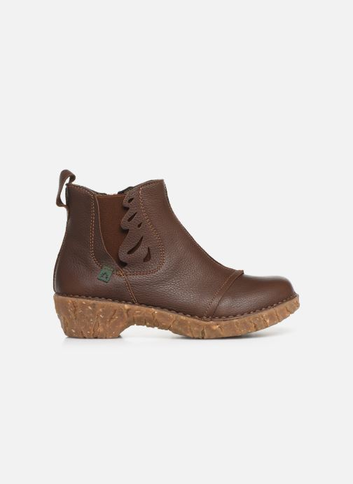 Ankle boots El Naturalista Yggdrasil 5E-124 Brown back view