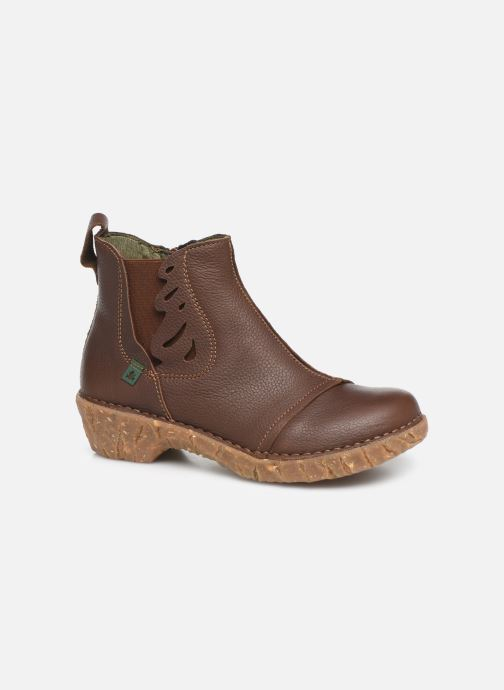 Ankle boots El Naturalista Yggdrasil 5E-124 Brown detailed view/ Pair view