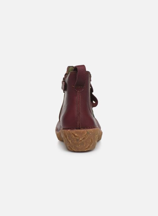 Ankle boots El Naturalista Yggdrasil 5E-124 Burgundy view from the right