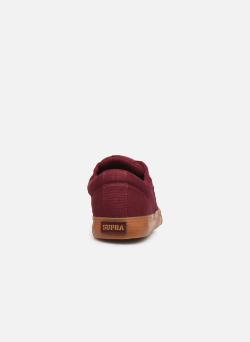 Trainers Supra Stacks II Vulc Burgundy view from the right