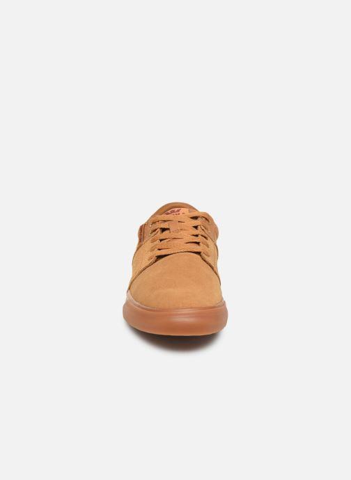 Sneaker Supra Stacks II Vulc braun schuhe getragen