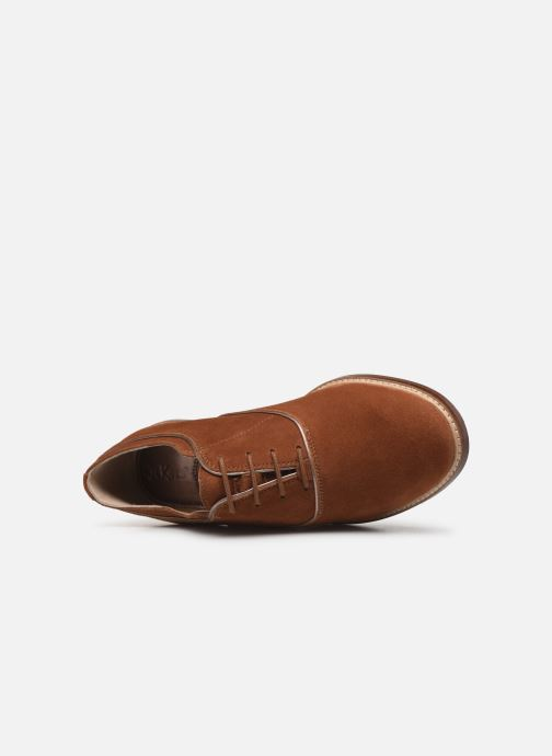 Chaussures à lacets Kickers Seville Marron vue gauche
