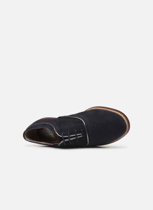 Zapatos con cordones Kickers Seville Azul vista lateral izquierda