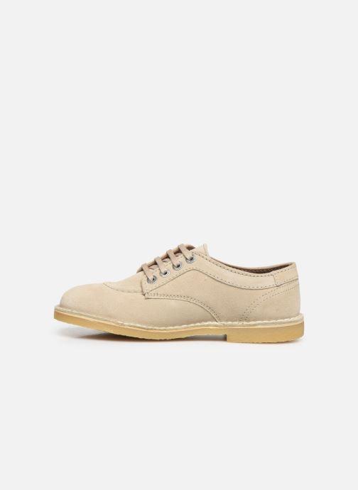 Chaussures à lacets Kickers Karma Beige vue face