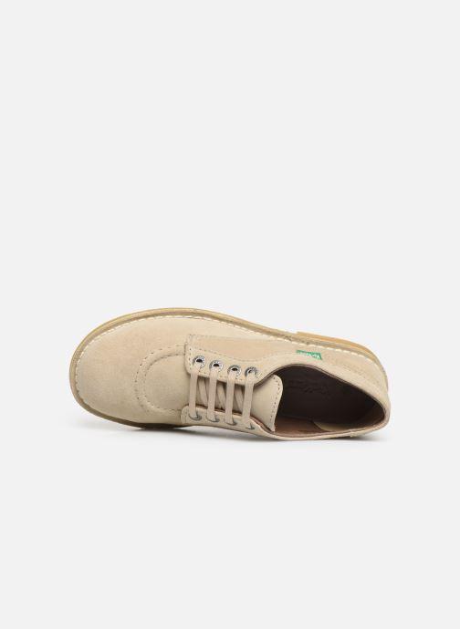 Zapatos con cordones Kickers Karma Beige vista lateral izquierda