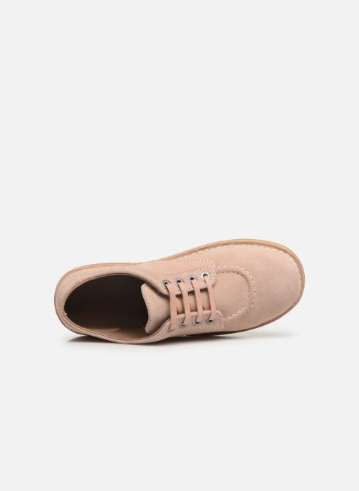 Chaussures à lacets Kickers Karma Rose vue gauche