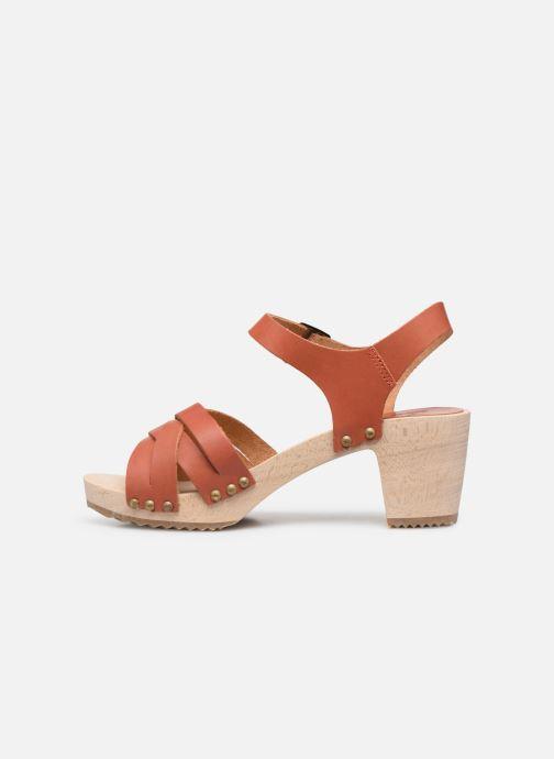 Sandales et nu-pieds Kickers Satine Marron vue face