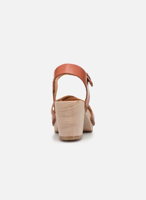 Sandales et nu-pieds Kickers Satine Marron vue droite