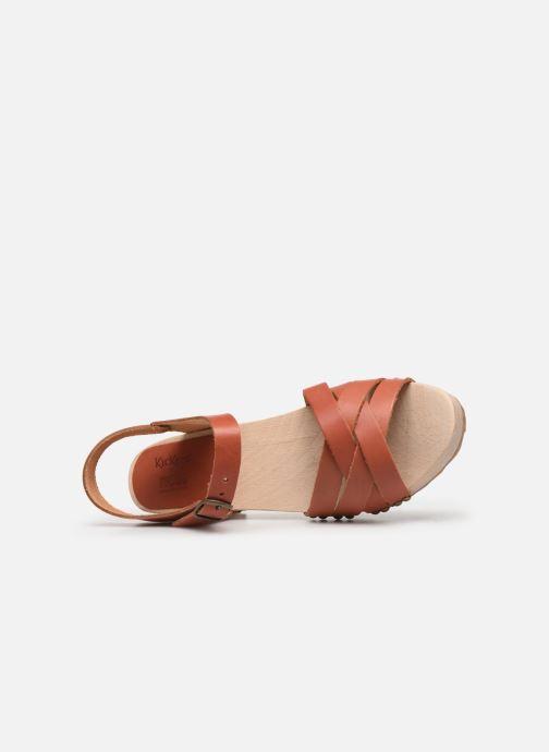 Sandales et nu-pieds Kickers Satine Marron vue gauche