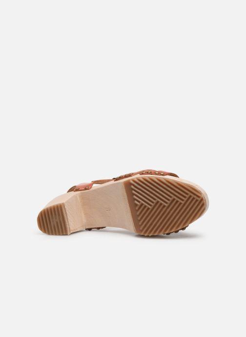 Sandales et nu-pieds Kickers Satine Marron vue haut