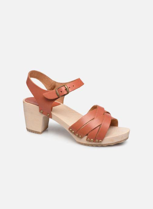Sandales et nu-pieds Kickers Satine Marron vue détail/paire