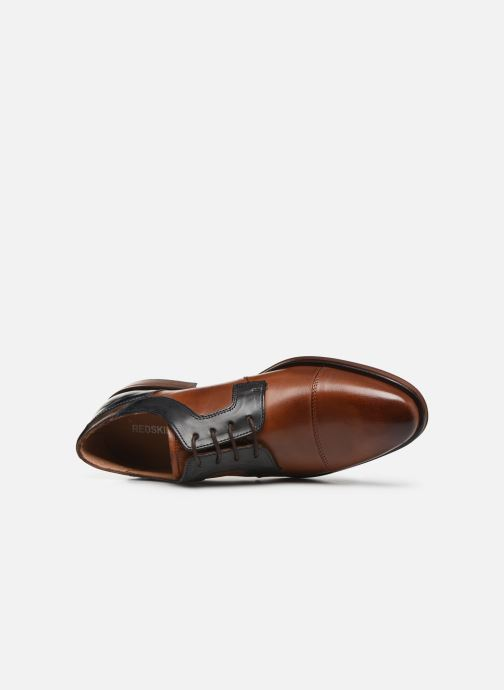 Lace-up shoes Redskins Windsor Brown view from the left