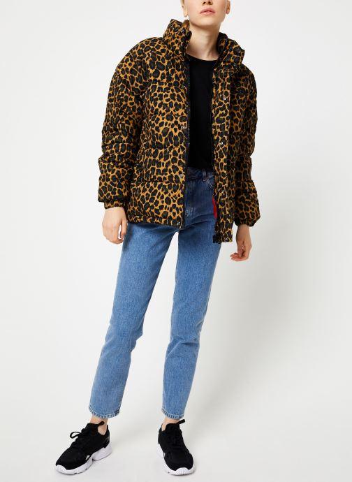 Vêtements Schott Doudounne Confort Fit Nebraska W Marron vue bas / vue portée sac