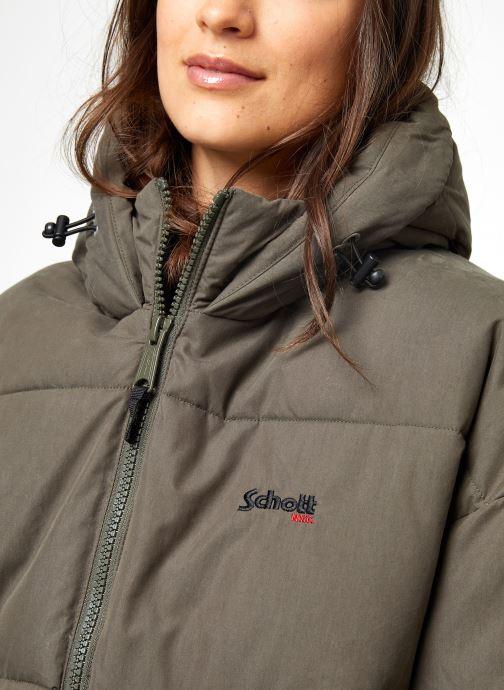 Vêtements Schott Doudounne Confort Fit Jkt Alaska W Vert vue face