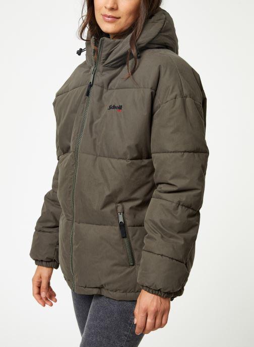 Vêtements Schott Doudounne Confort Fit Jkt Alaska W Vert vue droite