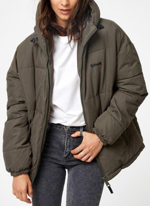 Vêtements Schott Doudounne Confort Fit Jkt Alaska W Vert vue détail/paire
