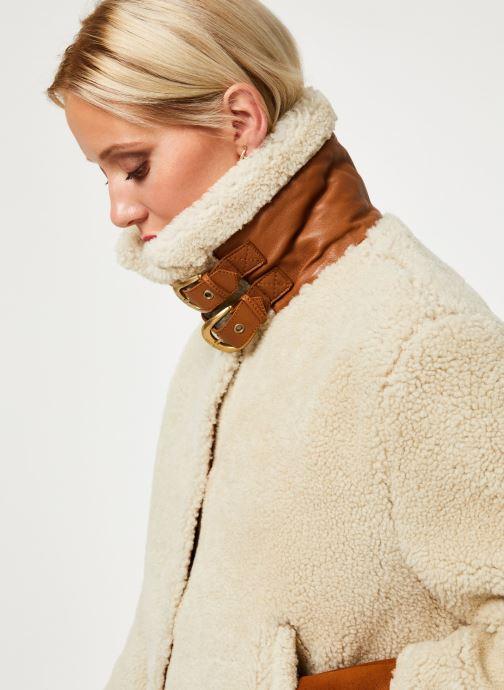 Vêtements Schott Bombardier Sherpa Lcw 1270 W Blanc vue face