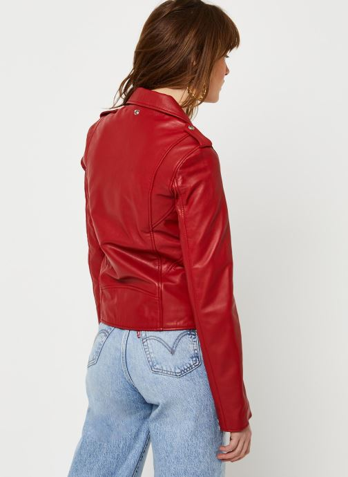 Vêtements Schott Perfecto Lcw 1601D W Rouge vue portées chaussures