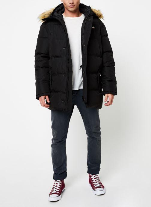 Vêtements Schott Doudounne Confort Fit Airfur M Noir vue bas / vue portée sac