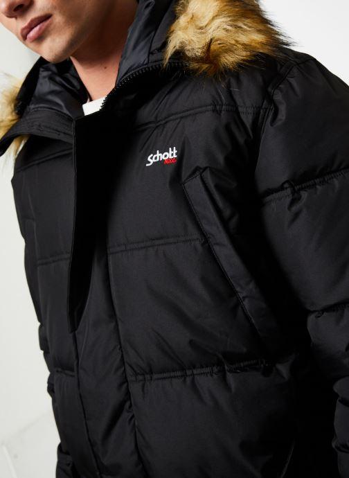 Vêtements Schott Doudounne Confort Fit Airfur M Noir vue face