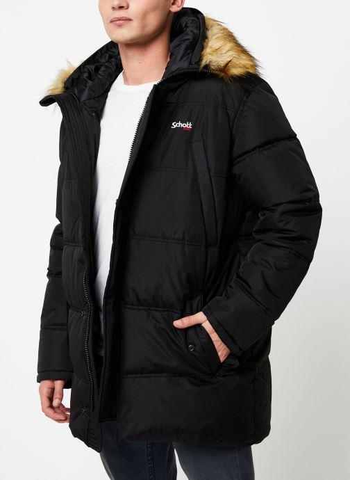 Vêtements Schott Doudounne Confort Fit Airfur M Noir vue droite