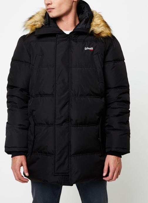 Vêtements Schott Doudounne Confort Fit Airfur M Noir vue détail/paire