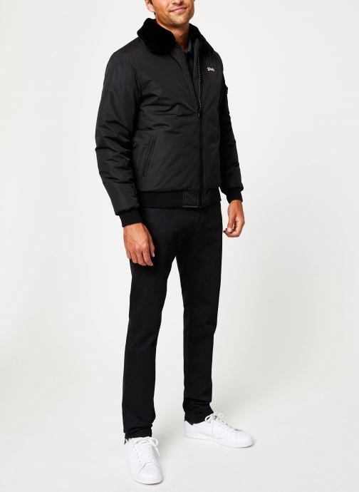 Vêtements Schott Blouson Aviateur Airtop M Noir vue bas / vue portée sac