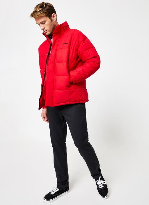 Vêtements Schott Doudounne Confort Fit Nebraska M Rouge vue bas / vue portée sac
