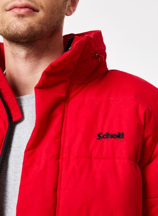 Vêtements Schott Doudounne Confort Fit Nebraska M Rouge vue face