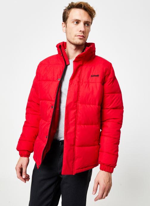 Vêtements Schott Doudounne Confort Fit Nebraska M Rouge vue droite