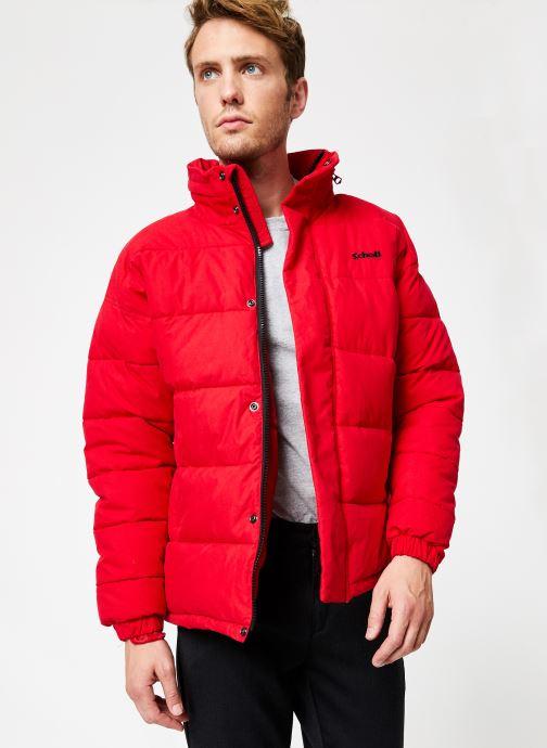 Vêtements Schott Doudounne Confort Fit Nebraska M Rouge vue détail/paire