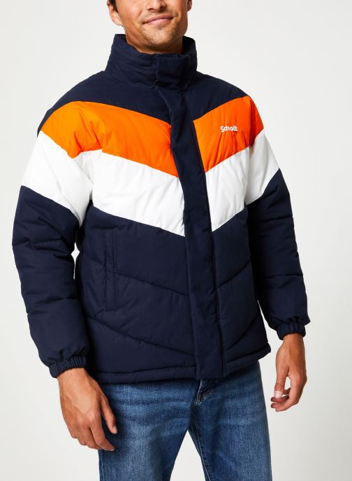 Vêtements Schott Doudounne Confort Fit Nebraska 2 M Bleu vue droite