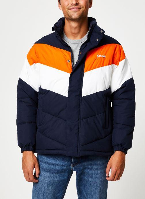 Vêtements Schott Doudounne Confort Fit Nebraska 2 M Bleu vue détail/paire