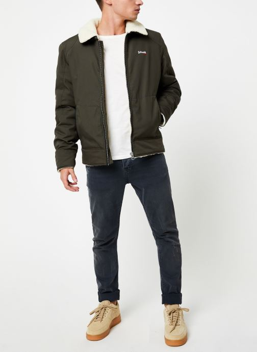 Vêtements Schott Blouson Double Sherpa Okla M Vert vue bas / vue portée sac