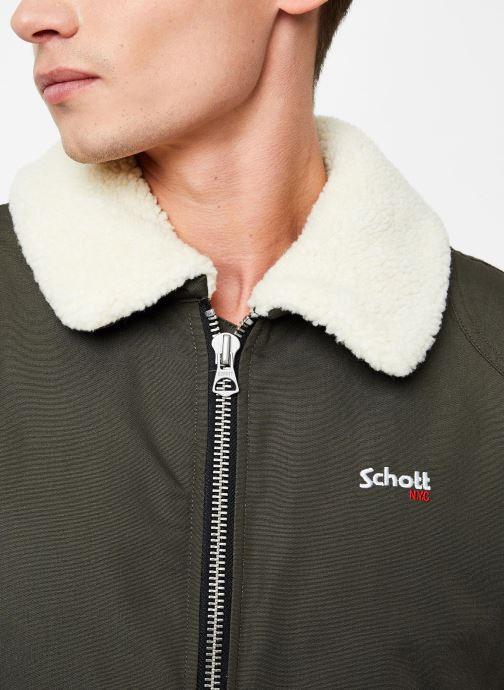 Vêtements Schott Blouson Double Sherpa Okla M Vert vue face