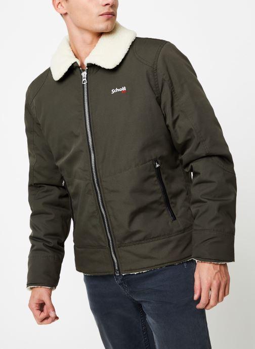 Vêtements Schott Blouson Double Sherpa Okla M Vert vue droite