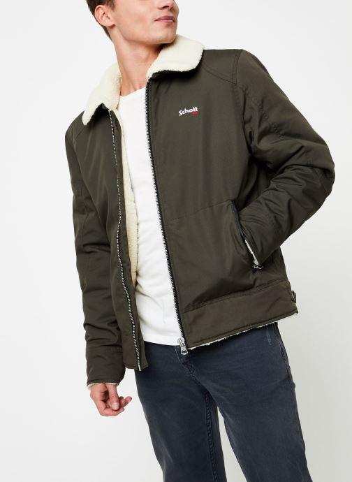 Vêtements Schott Blouson Double Sherpa Okla M Vert vue détail/paire