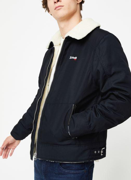 Vêtements Schott Blouson Double Sherpa M Bleu vue détail/paire