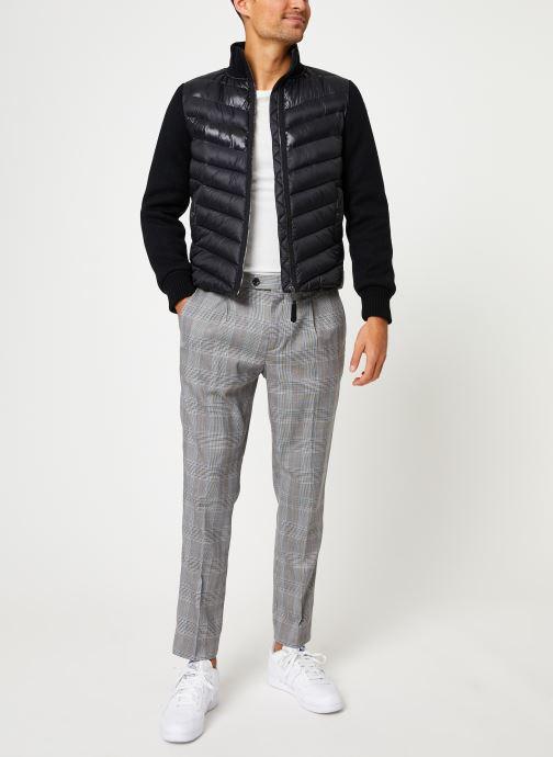Vêtements Schott Blouson Bi-Matiere Robson 20 M Noir vue bas / vue portée sac