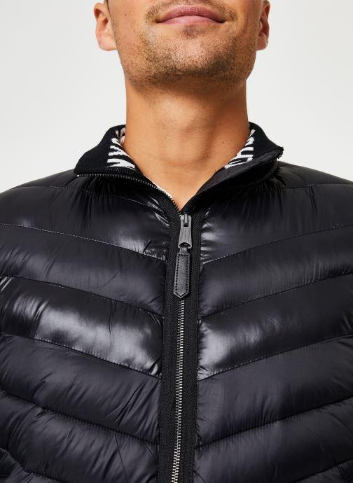 Vêtements Schott Blouson Bi-Matiere Robson 20 M Noir vue face