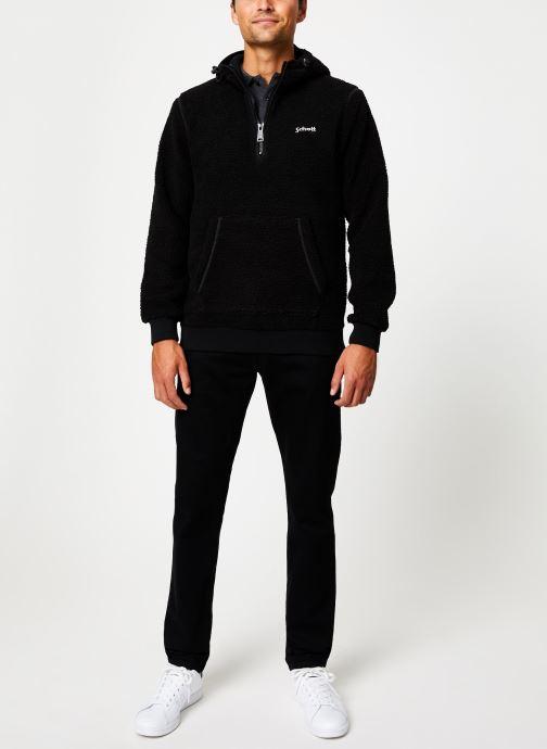 Vêtements Schott Sweat Capuche Sherpa Sw Andric 1 M Noir vue bas / vue portée sac