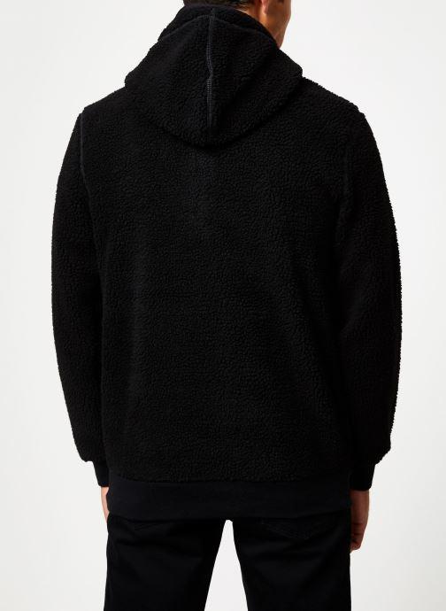 Vêtements Schott Sweat Capuche Sherpa Sw Andric 1 M Noir vue portées chaussures
