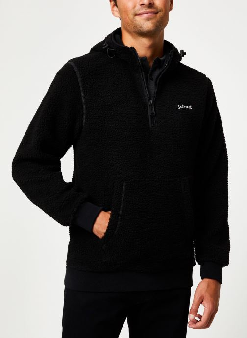 Vêtements Schott Sweat Capuche Sherpa Sw Andric 1 M Noir vue détail/paire