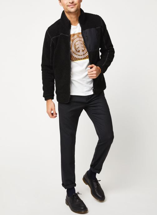 Vêtements Schott Sweat Zippe Sherpa Sw Archer M Noir vue bas / vue portée sac