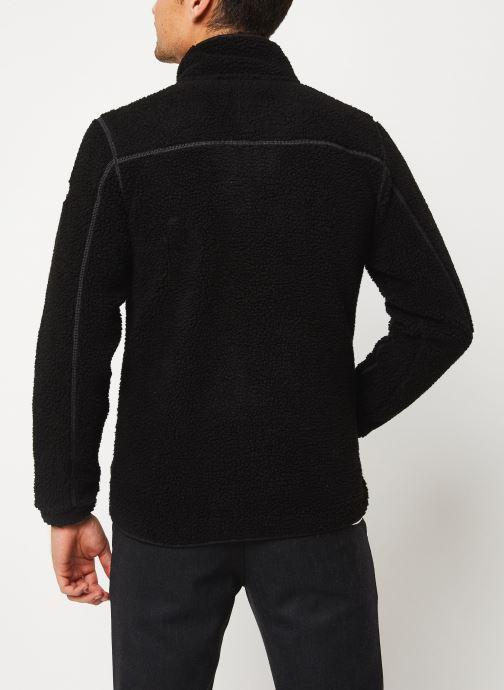 Vêtements Schott Sweat Zippe Sherpa Sw Archer M Noir vue portées chaussures
