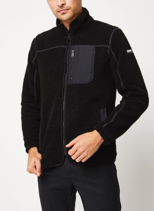 Vêtements Schott Sweat Zippe Sherpa Sw Archer M Noir vue droite