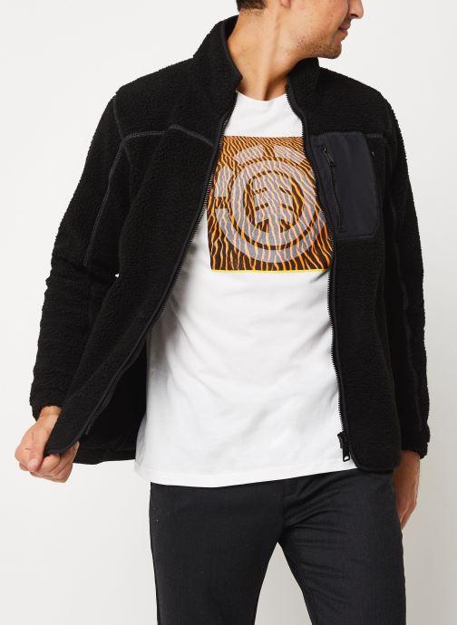 Vêtements Schott Sweat Zippe Sherpa Sw Archer M Noir vue détail/paire